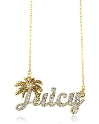 Juicy Couture Juicy Palm Signature Necklace - Lyst