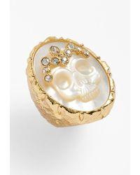 Alexis Bittar 'Elements' Skull Stone Ring - Lyst