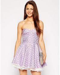 AX Paris Bandeau Prom Dress - Lyst