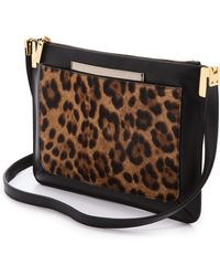 Time's Arrow Haircalf Ishi Small Shoulder Bag Leopard - Lyst
