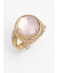 Anna Beck Women'S 'Gili' Stone Ring - Gold/ Rose Quartz - Lyst