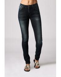 """Nudie Jeans 32"""" Skinny Lin Jean blue - Lyst"""