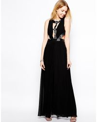 Forever Unique Issy Maxi Dress With Cut Outs And Embellishment - Lyst