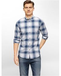 CALVIN KLEIN 205W39NYC - Jeans Slim Fit Ombre Check Shirt - Lyst