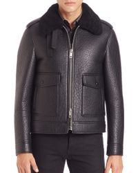 Burberry London | Blueford Shearling-trimmed Blouson Aviator Jacket | Lyst