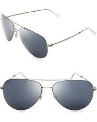 Gucci Mirrored Aviator Sunglasses - Lyst