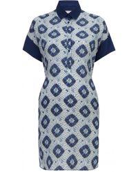 Richard Nicoll Crepe De Chine Tie Dye Shirt Dress - Lyst