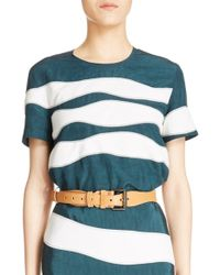 Cedric Charlier - Calfskin Leather Belt - Lyst