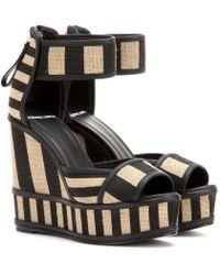 Pierre Hardy Wedge Sandals - Lyst