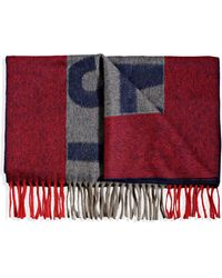 Acne Studios Oblong Scarf red - Lyst