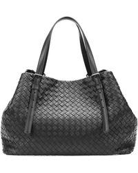 Bottega Veneta Ashape Medium Woven Tote Bag Black - Lyst