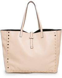 Mango Rivet Shopper Bag - Lyst