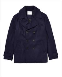 Selected Mercer Double Breasted Pea Coat - Lyst