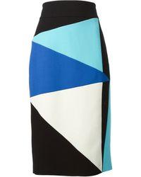 Fausto Puglisi Colour Block Pencil Skirt - Lyst