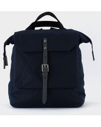 Ally Capellino - Frances Waxed Cotton Rucksack - Navy - Lyst