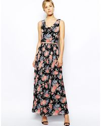 Oasis Floral Cowl Dress - Lyst