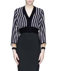 Toga Archives Stripe Lurex Knit Cropped Cardigan - Lyst