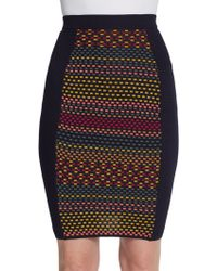 M Missoni Cube Print Mini Skirt - Lyst
