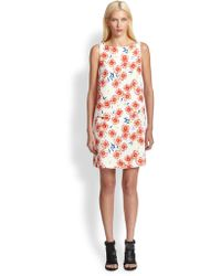 Opening Ceremony Anemone Printed Crepe Dress - Lyst