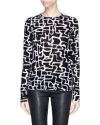 Proenza Schouler Maze Print Tissue Jersey T-Shirt - Lyst