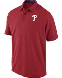 Nike Men'S Short-Sleeve Philadelphia Phillies Ac Dri-Fit Polo - Lyst
