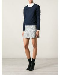 Tory Burch Textured Skirt - Lyst