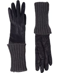 Barneys New York Extended-cuff Leather Gloves - Lyst