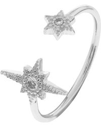 Accessorize - Sterling Silver North Star Ring - Lyst
