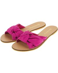 Accessorize - Cocktail Knot Suede Sliders - Lyst
