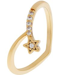 Accessorize - Shooting Star Wishbone Ring - Lyst