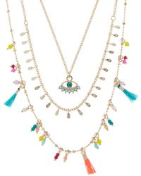 Accessorize - Charmy Layered Necklace - Lyst