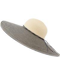 Accessorize - Oversized Stripe Floppy Hat - Lyst