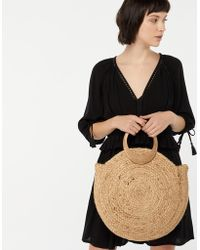 Accessorize - Mila Circle Handle Straw Bag - Lyst