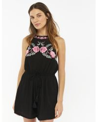 Accessorize - Embroidered Playsuit - Lyst