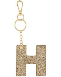 Accessorize - H Glitter Initial Keyring - Lyst