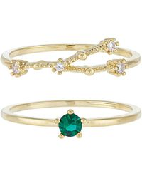 Accessorize - May Birthstone Stacking Ring Set - Lyst