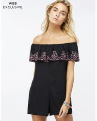 Accessorize - Izzy Embroidered Playsuit - Lyst