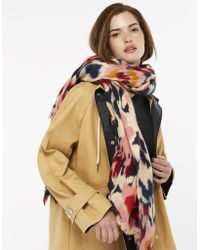 Accessorize - Blurred Floral Blanket Scarf - Lyst