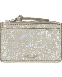 Accessorize - Paint Splash Leather Travelcard Holder - Lyst