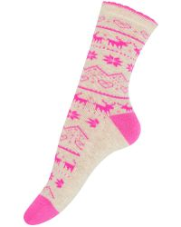 Accessorize - Neon Fairisle Thermal Socks - Lyst