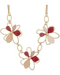 Accessorize - Tilly Flower Statement Necklace - Lyst