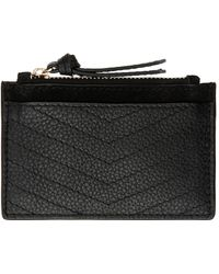 Accessorize - Leather Quilted Shoreditch Card Holder - Lyst