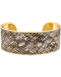 Accessorize - Snake Print Inlay Cuff - Lyst