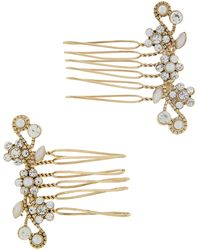 Accessorize - 2x Trailing Vine Hair Combs - Lyst