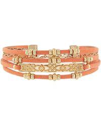 Accessorize - Beach Comber Multi Cord Bracelet - Lyst