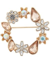 Accessorize - Open Circle Floral Brooch - Lyst
