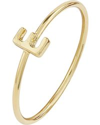 Accessorize | Gold Plated Initial Ring E | Lyst