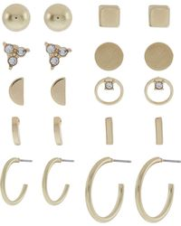 Accessorize - 10x Gold Stud Earrings Pack - Lyst