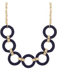 Accessorize - Fabric Wrapped Rings Necklace - Lyst