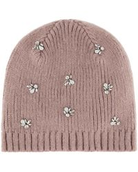 Accessorize - Embellished Beanie Hat - Lyst